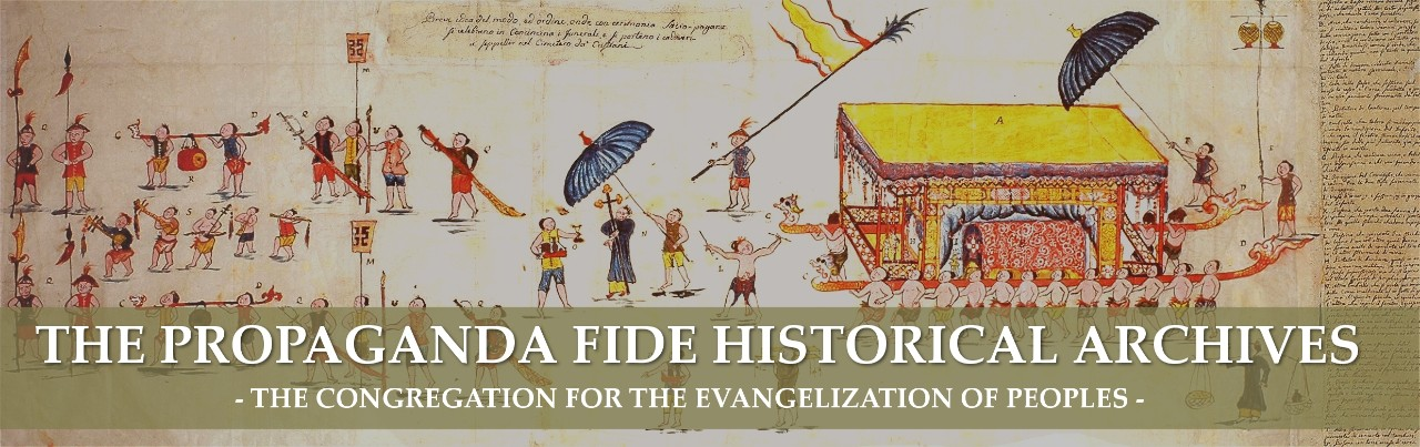 Home Page Propaganda fide historical archives